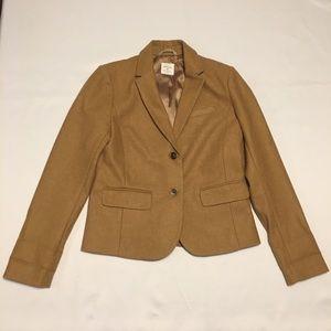 GAP Womens Academy Blazer Sz 4 Brown Wool 2 Button